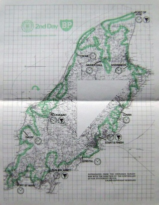 Photo - paper entrants map for day 2 ISDT 1975