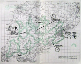 Photo - paper entrants map for day 5 ISDT 1975