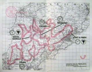 Photo - paper entrants map for day 6 ISDT 1975