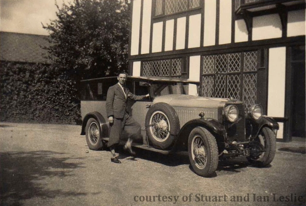 Photo - Photo -Jack Leslie with his Hispano Suisse  1934 (Courtesy Stuart and Ian Leslie Collection)
