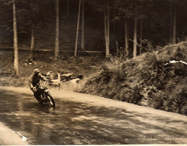 Photo - #217 Jack Leslie on Rudge at Kesselberg ISDT 1936 (Courtesy Stuart and Ian Leslie Collection)