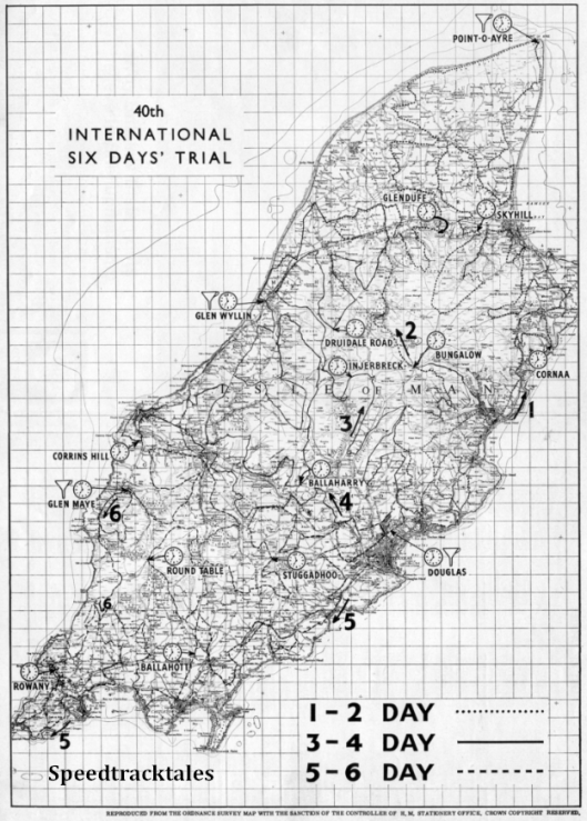 Image - scanned copy of map of event route ISDT 1965 (Speedtracktales archive)