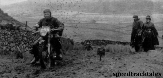 photo - BH Viney (500cc AJS) near Cader Idris on the friday of the 1954 event ISDT 1954 (Speedtracktales archive)