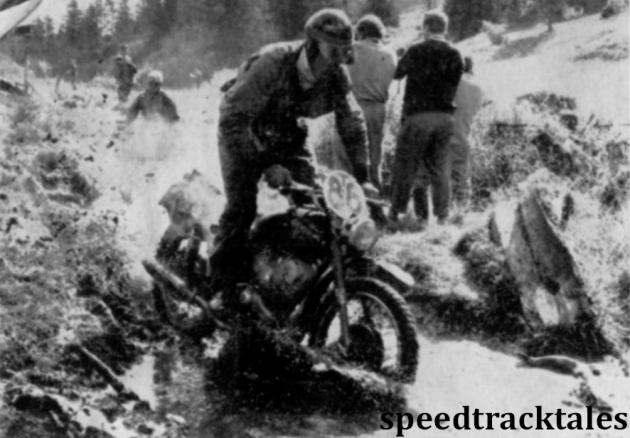 photo - #86 Herbert Huber of Austria (175cc CZ) of the Austrian  'B' Silver Vase team ISDT 1960 (Speedtracktales archive)