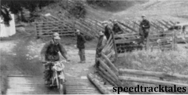 photo - Brian Bonny (350cc Royal Enfield) on the Cross Country Test ISDT  (Speedtracktales archive)
