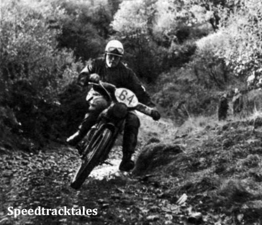 Photo - Witzel in der Gelände-Sonderprüfung des vierten Tages. Auch ihm ISDT 1961 (Speedtracktales Archive)