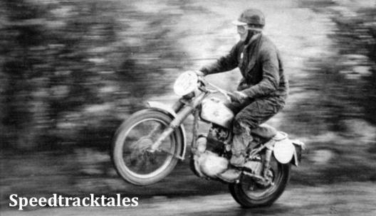 Photo - Der Engländer Faulkner auf einer 250er BSA beim Start zur Bergprüfung am vierten Tag. ISDT 1961 (Speedtracktales Archive)