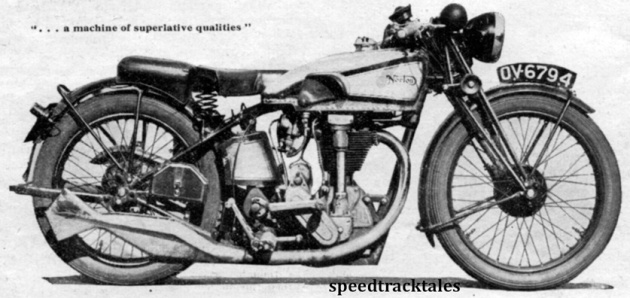 "image - Norton 500cc ""International"" 1932 - a machine of Superlative qualities. (speedtracktales archive)"