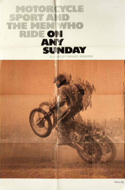 Photo - original cinema poster for 'On Any Other Sunday II, featuring Steve McQueen