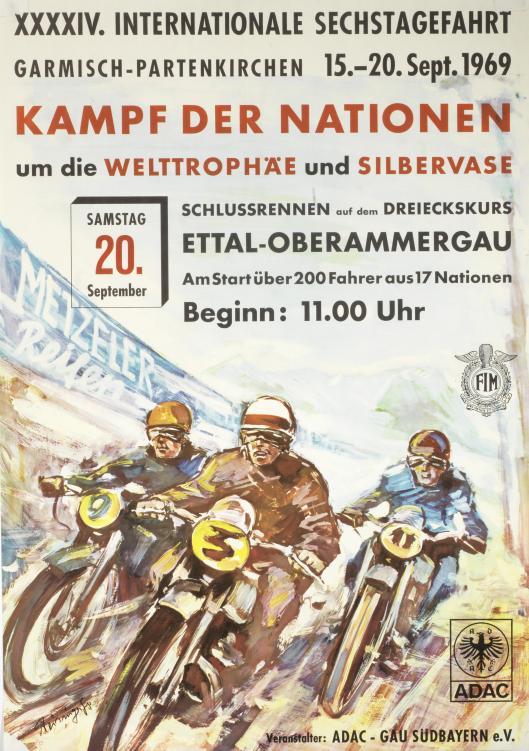 Photo - ADAC Garmisch Partenkirchen Poster ISDT 1969