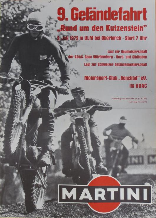 Photo - Poster ADAC Geländefahrt, Oberkirch, West Germany 1972