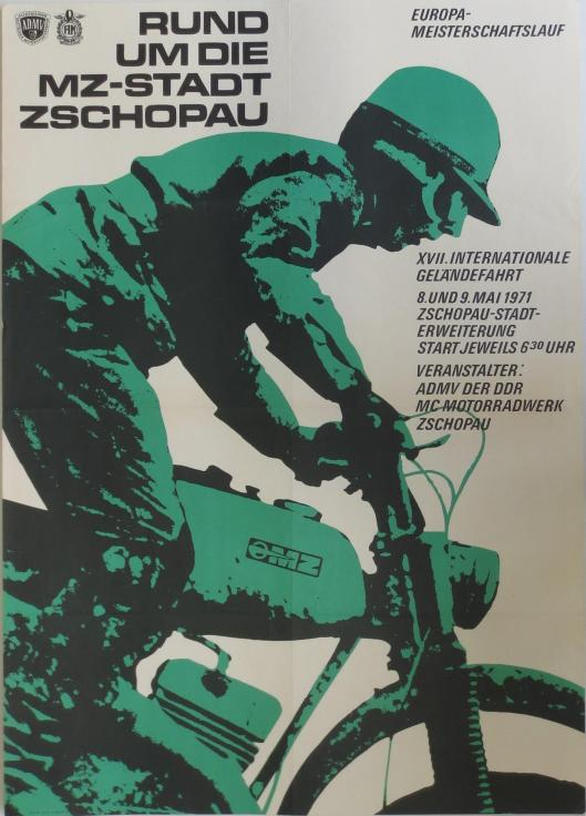 Photo - poster FIM European Enduro Championships Zschopau, East Germany 1972