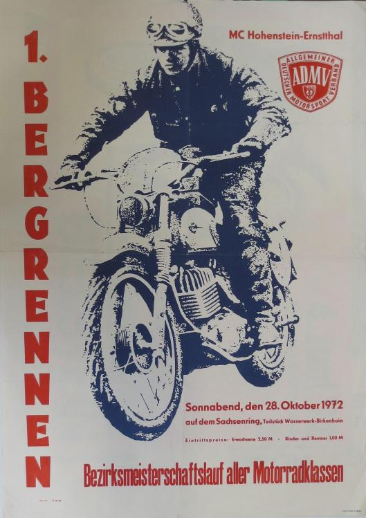 Photo - Poster Bergrennen Enduro 1972