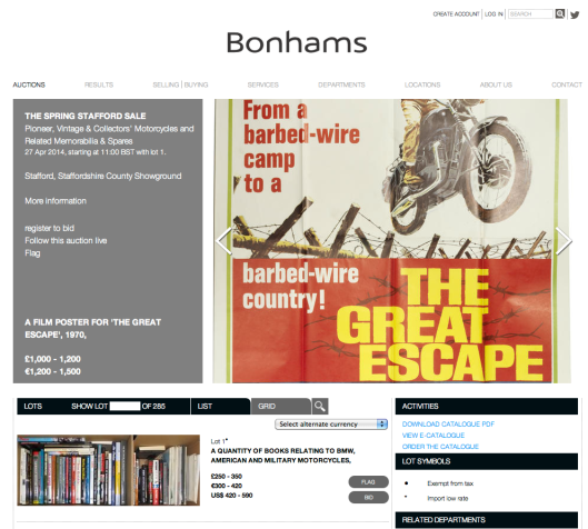 Bonham's Spring Stafford Auction 27 April 2014