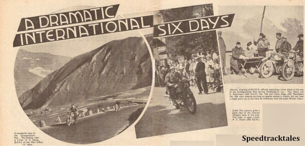 image - main report illustration 'Motor Cycling' 30th August 1939 ISDT 1939 (Speedtracktales Archive)