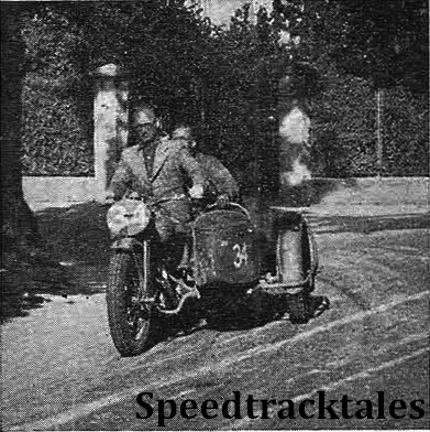 photo - #34 Harold Taylor (Ariel-4 sc) on the main road near Salzburg ISDT 1939 (Speedtracktales Collection)