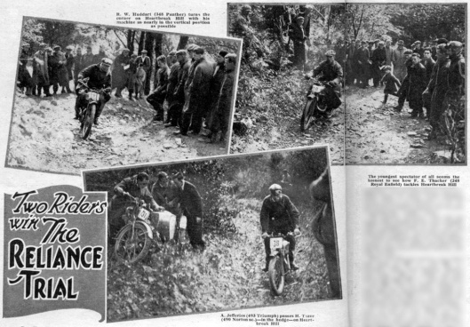 Photo - Trials riders find their way up Heartbrak Hill, Glyn Ceiriog during the Reliance Trial 1935