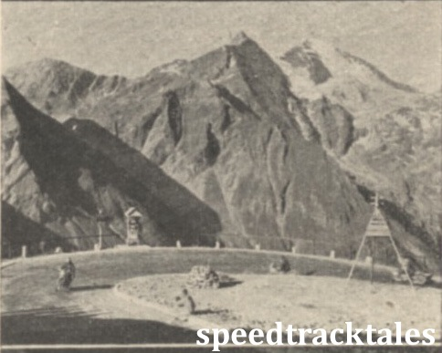 Photo - Raneiri (500 Sertum) rounding a hairpin high up in the Alps ISDT 1939 (Speedtracktales Collection)