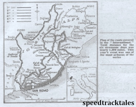 image - route map for ISDT from 'the Motor Cycle' ISDT 1948