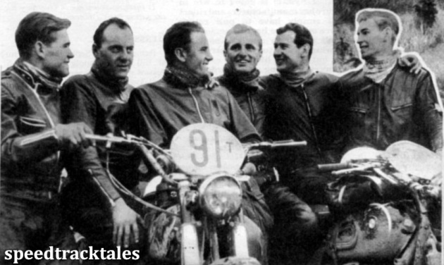 Photo- the West Germwns, winners of the International Trophy ISDT 1961 (speedtracktales collection)