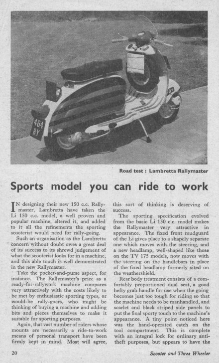 Review of the 1962 Lambretta Rallymaster