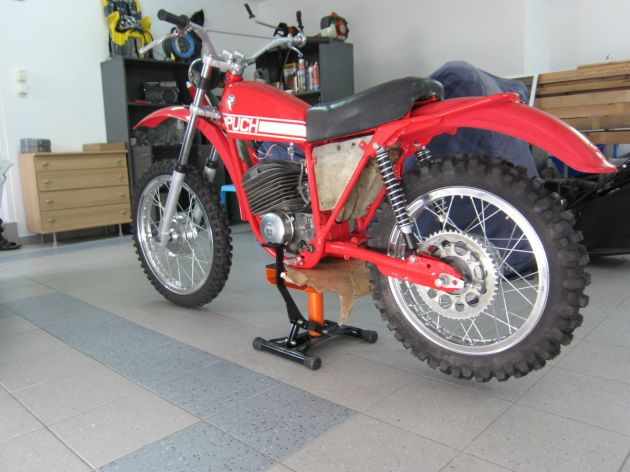 Photo - Johann Sommerauer's Works Puch MC 175 rh side view ex ISDT 1973