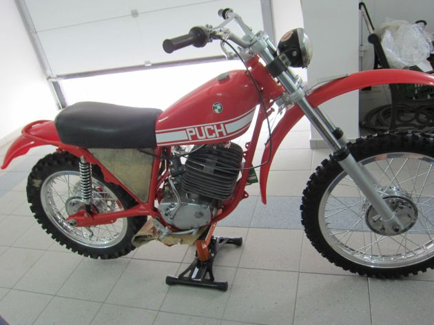 Photo - Johann Sommerauer's Works Puch MC 175 LH side view ex ISDT 1973