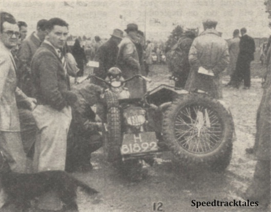 Photo - An admiring crowd around DJ Wuis's Harley-Davidson [H81892 - NL] - ISDT 1938 (image courtesy Morton Media)