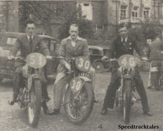 Photo - GB 'B' Vase Team #51 FE Thacker (Triumph) #30 JJ Booker (Royal Enfield) #46 A Jefferies (Triumph) - ISDT 1938 (image courtesy Morton Media)