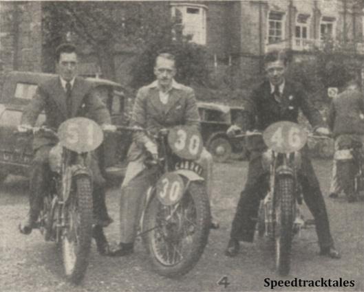 Photo - GB 'B' Vase Team #51 FE Thacker (Triumph) #30 JJ Booker (Royal Enfield) #46 A Jefferies (Triumph) - ISDT 1938 (image courtesy Morton Media)