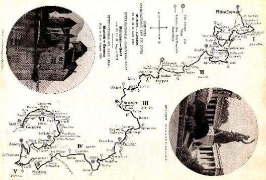 image - scanned copy of route map ISDT 1929