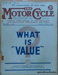 image - cover of 'the Motor Cycle' issue of 21 July 1938 with report on the ISDT 1938