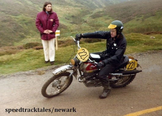 Photo - Gold Medal winner #221 Sammy Miller GB on Bultaco [HPC35K] ISDT 1971 (Newark Collection)