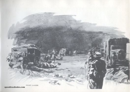 image - Night stop in the Desert 1942 (Original Art by Gordon Horner 1915-2006)