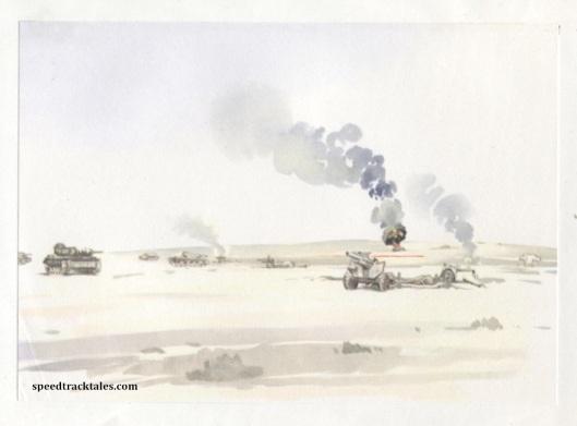 image - Battlefield - Libyan Desert 1942 (Original Art by Gordon Horner 1915-2006)