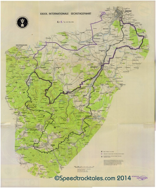 image - Course map Day 4 & 6 ISDT 1964 (Courtesy Harro Esmarch Collection)