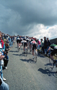 Stage 6 1988 Milk Race on the Bwlch y Groes (Image - Johnny Pickles)