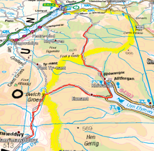 Image - Mapped route as shown in Profile