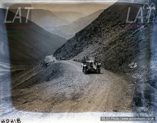 Photo - A competitor ascends the Bwlch y Groes in the Welsh 24 Hour Trial 1929