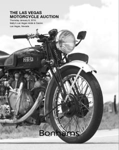image - cover auction catalogue Bonham's Motorcycle Auction, Bally's Hotel and Casino, Las Vegas 8 January 2015