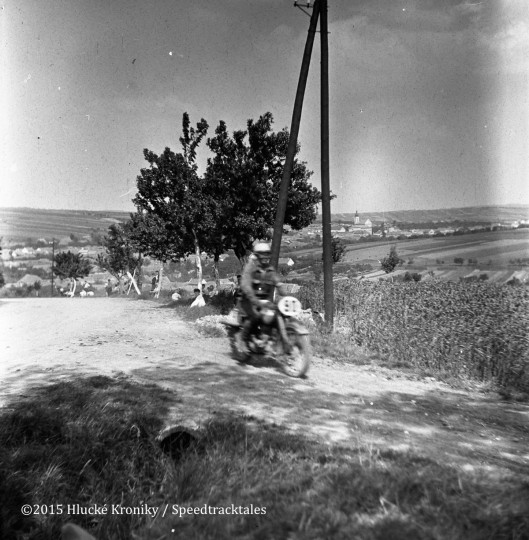 Photo - Unidentified rider, possibly #91 Hardy Sprung IFA 125 near Hluk  ISDT 1953 (©Hluké Kroniky)