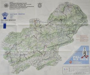 Image - Colour map for routes of Day 2 and 3 ISDT 1959