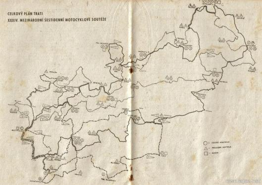 image - map of the course days 1 - 6 ISDT 1959