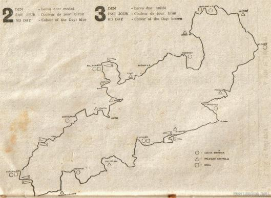 image - programme map of routes days 2 & 3 ISDT 1959
