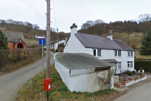 Photo - The Conquering Hero Inn (now a House) and Road (Google Streetview)