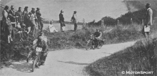 Photo - #57 on Middle Down Hill - first severe hill of the ACU Six Days Trial - ISDT 1925 ( Motorsport)