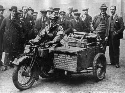Photo - Stanley T Glanfield and 3.5 hp Rudge