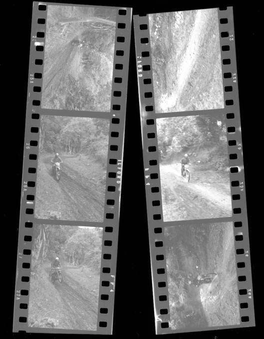 Photo - scans of 35mm black and white negatives from the ISDT 1971