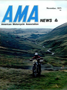 Image - cover Nov 1971 AMA news with review ISDT 1971