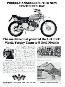 Image - Penton Motorcycles advert announcing successes winning medals ISDT 1971